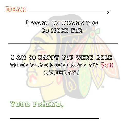 "Fill in the blank ""Thank You"" cards for Boys"