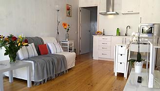Vue de la pièce à vivre de l'appartement