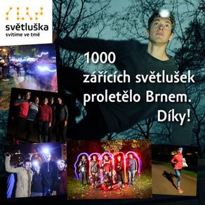 1000 zářících Světlušek proletělo Brnem. Díky!