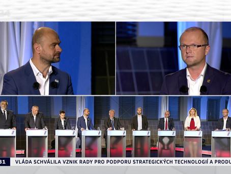 Předvolební debata lídrů volebních stran pro volby do zastupitelstva Pardubického kraje