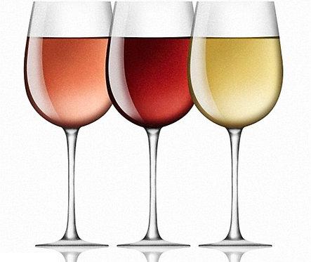 onze huiswijn: rood - wit - rosé