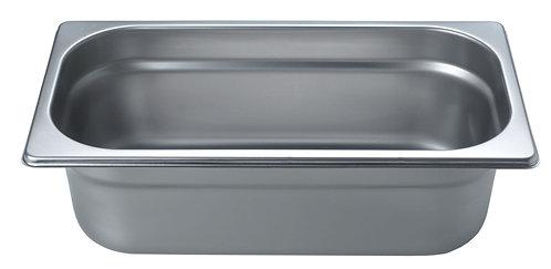 inox schaal 1/3 GN (32.5 x 17.5 cm) - 10 cm - zonder gaatjes