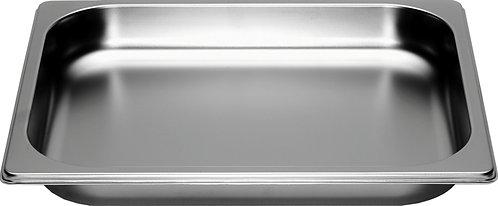 inox schaal 1/2 GN (32.5 x 26.5 cm) - 4 cm - zonder gaatjes