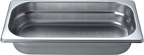 inox schaal 1/3 GN (32.5 x 17.5 cm) - 6.5 cm - met gaatjes