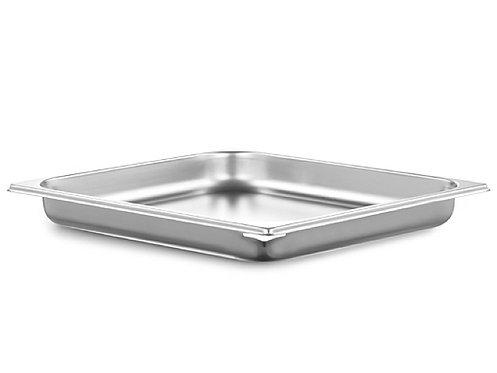 inox schaal 2/3GN (32.5 x 35.5 cm) - 4 cm - zonder gaatjes met schenktuit
