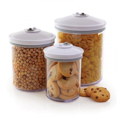vacuüm bewaarbussen (foodsaver) 3 stuks (0.7 - 1.4 en 2.4 liter)