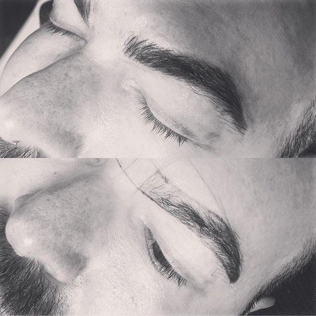 Microblading brows on guys