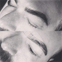 Microblading brows on guys