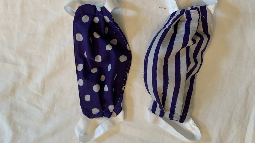 Kids Purple Dots and Stripes