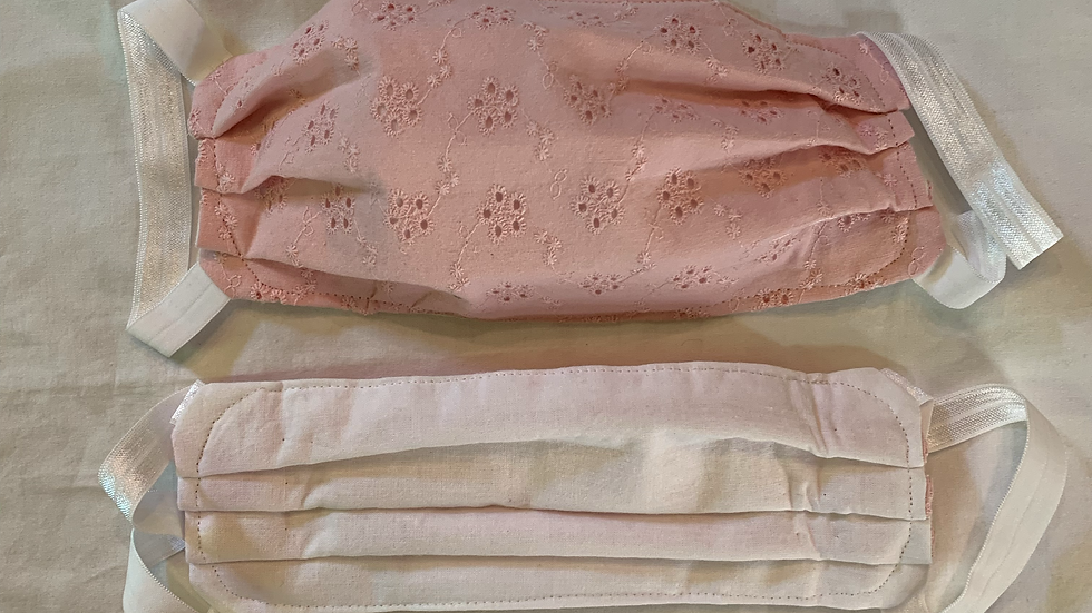 Pink Embroidered