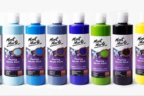 MontMarte12色裝流體畫顏料套裝