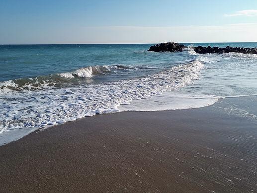 La plage à Frontignan , mer méditérranée