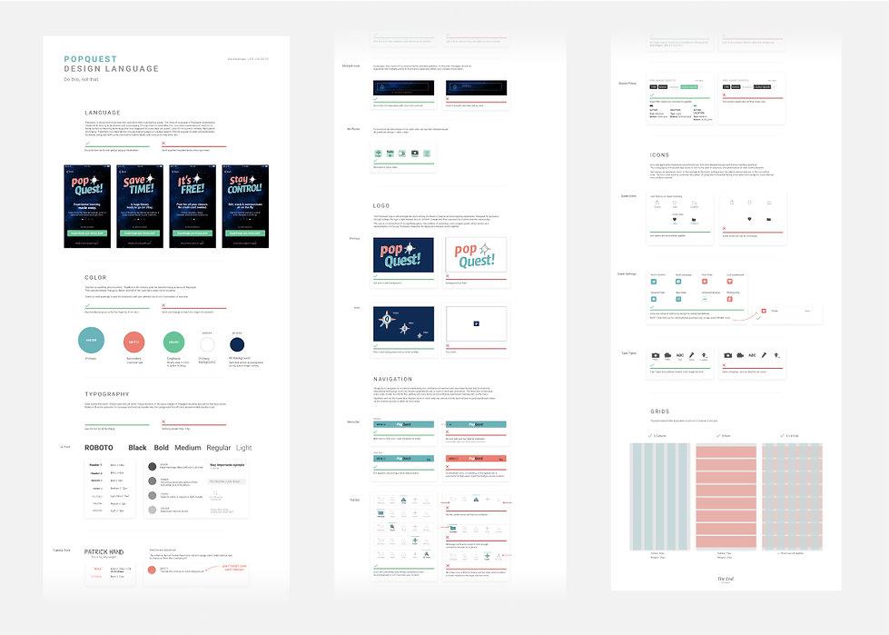 Proto-Design System fo PopQuest