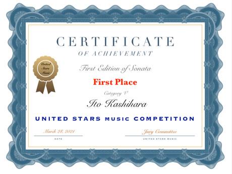 UNITED STARS MUSIC COMPETITION 1位!!だから止められない苦労のレッスン