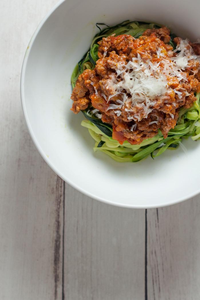 Instant Pot Bolognese Zucchini Pasta