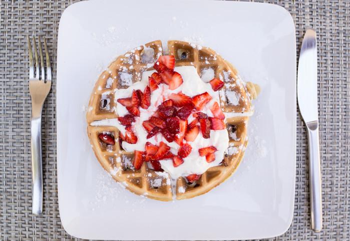 Strawberry Short-Waffles