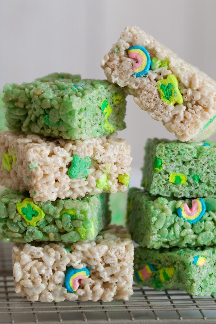 St. Patrick's Day Rice Krispie Treats