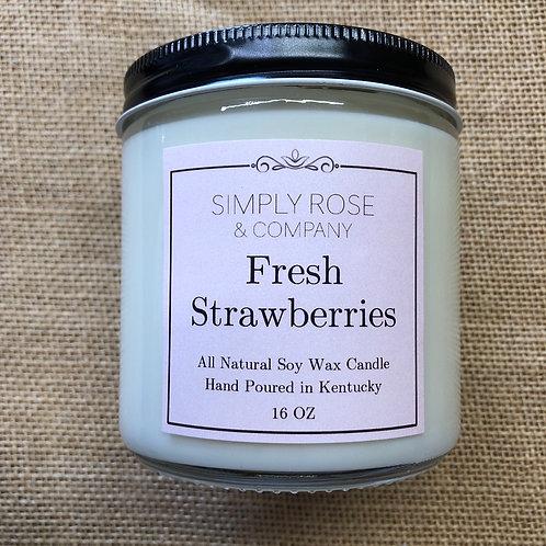 16oz Fresh Strawberries