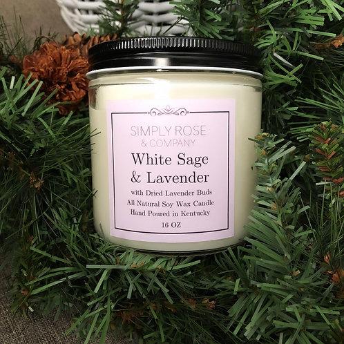 16oz White Sage & Lavender