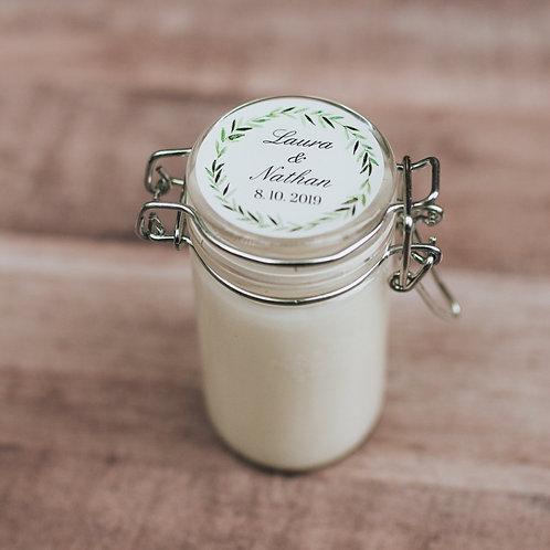 Snap Top Jar Olive Branch Frame
