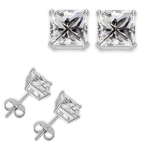 2 CT SILVER EARRINGS