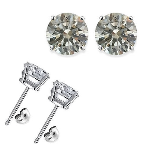 1 CT SILVER EARRINGS