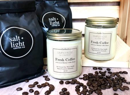 Salt + Light Coffee Candles