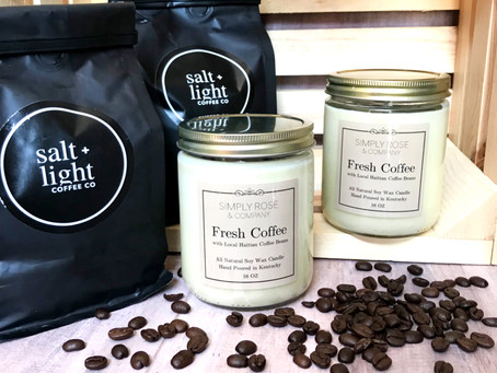 Salt + Light Coffee Candles