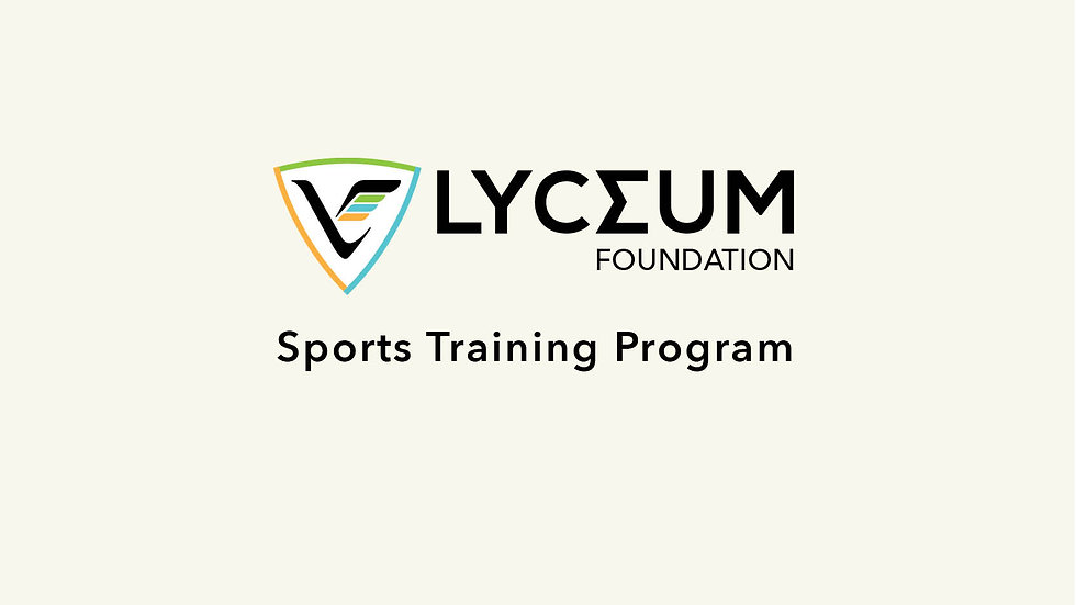 Lyceum Foundation Sports Training Program