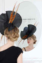 Hat designed by Tracy Chaplin, couture milliner