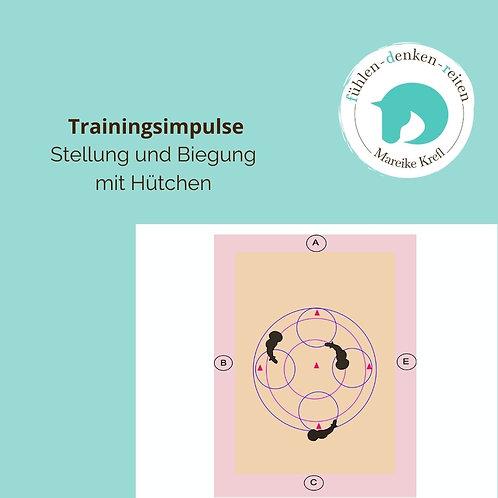 Trainingsimpuls Nr.2 Stellung/Biegung mit Hütchen