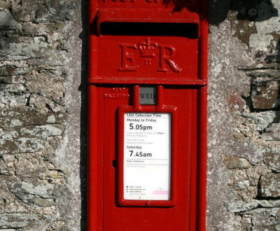 Postbox at Higher Trevilla, Feock - open again!
