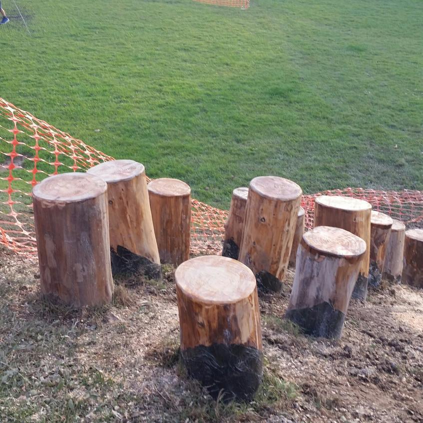 Work in progress stepping logs