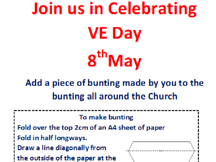 VE Day celebrations at home