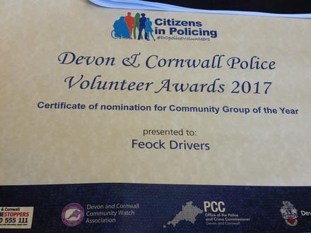 Devon & Cornwall Police Volunteer Awards