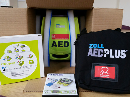 New Community defibrillators and free CPR and defib training