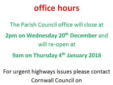 Office hours over the Christmas period