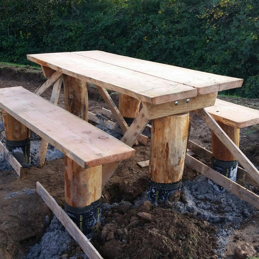 Work in progress picnic bench