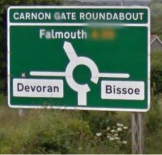 Carnon Gate Roundabout project