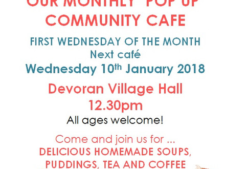 Next Pop up Community Cafe