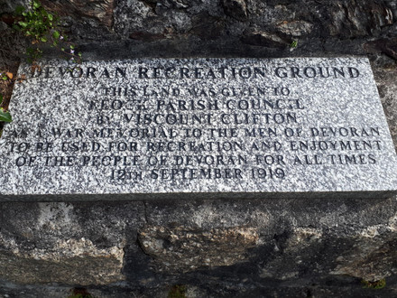 Centenary of Devoran Recreation Ground