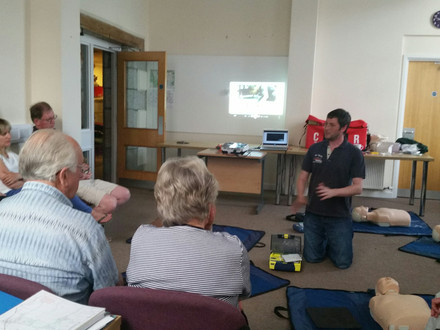 A great turn out at CPR training