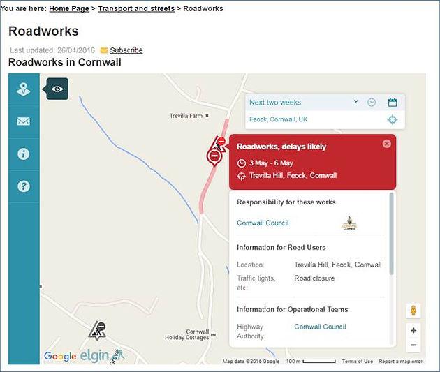 Road closure in Feock, 3rd to 6th May | Feock Parish Council