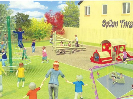 New play equipment for Carnon Downs park