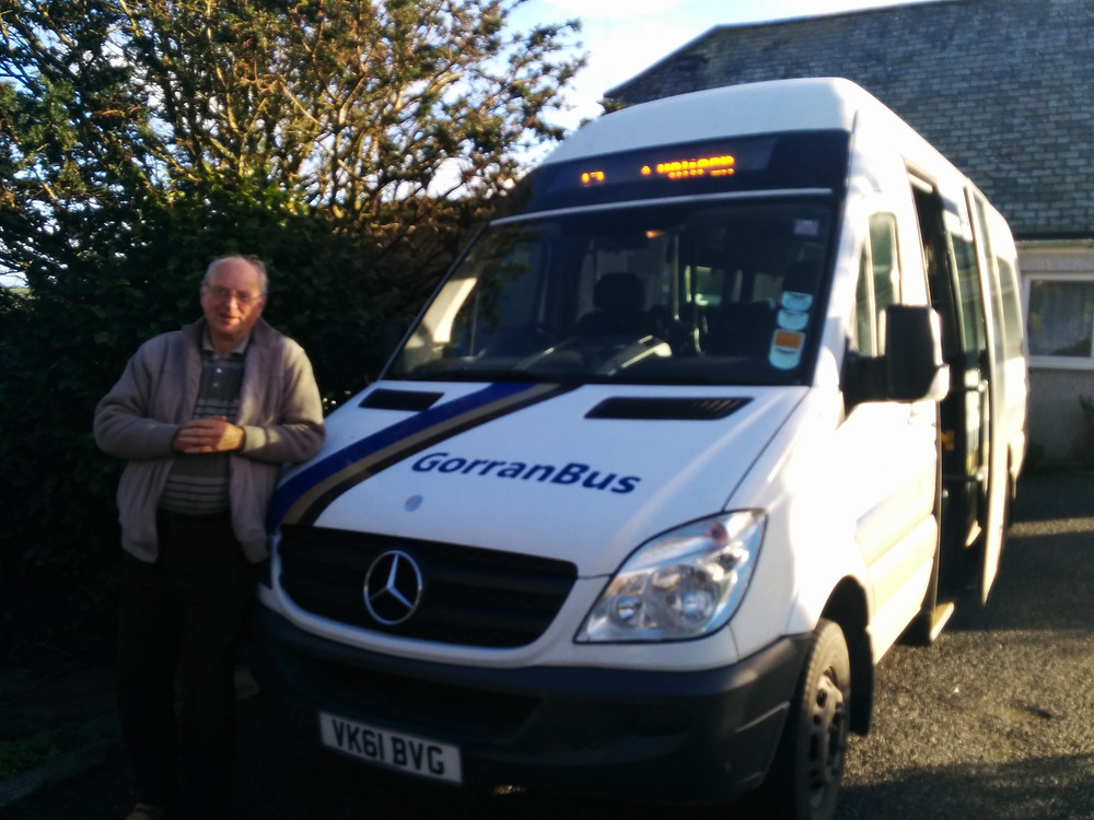 Stephen Church with Gorran Bus