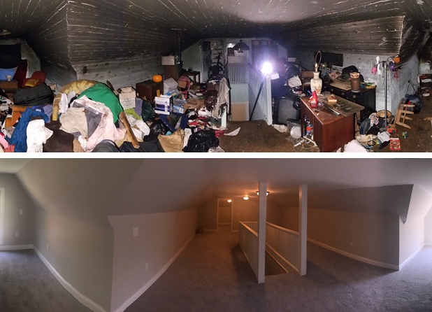 Fire Smoke Damage Before & After