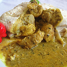 Trini Chicken Roti