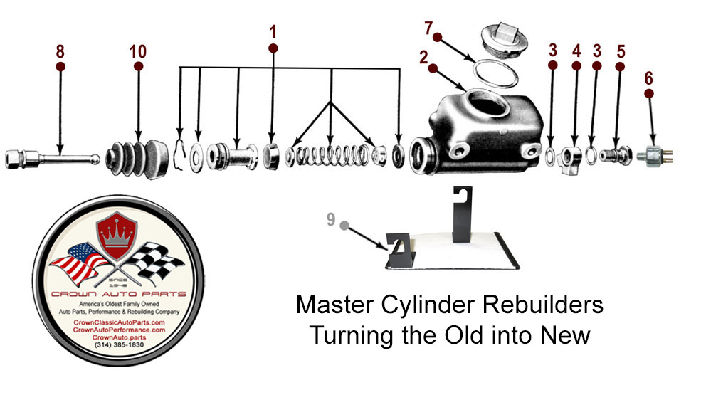 Vintage Jeep Willys Master Cylinder rebuilding - Crown Auto Parts and Rebuilding St Louis Missouri