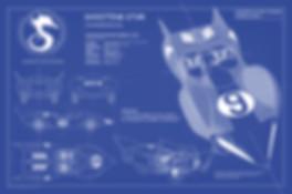 Racer X Shooting Star Blue Prints