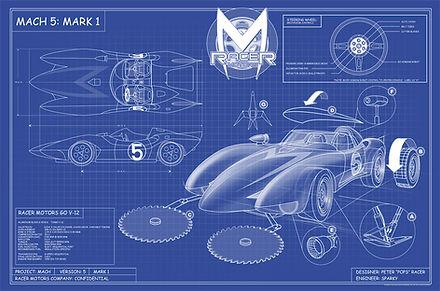 Speed Racer Mach 5 Blue Prints